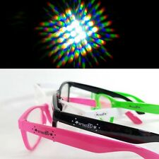 Diffraction glasses rave festival kaleidoscope prism rainbow crez3D green