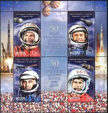 Moldavia 2011 VOLO NELLO SPAZIO/GAGARIN/Titov/Shephard/astronauti/PEOPLE 4v M/S n44416