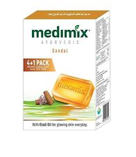 Medimix Ayurvedic Sandal Soap, 125g x 5 (Pack of 5 Soap)