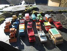 majorette corgi  lot camions tractopelles tracteur locomotive pick-up