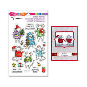 Stampendous Clear Stamps - FELT MICE - Christmas