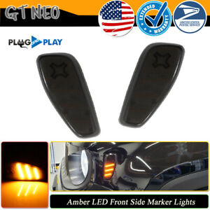 For 2015-2021 Jeep Renegade Smoked Lens Amber Yellow LED Side Marker Lights Kit