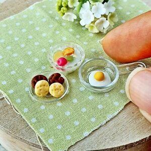 Dollhouse Miniatures Food Cereal Cookies Breakfast Set Mini Tiny Supply Decor