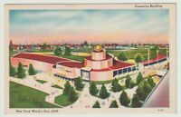 1939 Unused Postcard New York Worlds Fair Cosmetics Building NYC NY