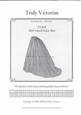 Sewing Pattern Truly Victorian TV202 Grand Parlor ladies skirt UNCUT