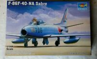 TRUMPETER 1:144 SCALE F-86-F-40-NA SABRE FIGHTER JET AIRCRAFT / PLANE MODEL KIT