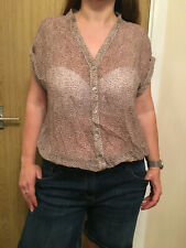 Women Pull & Bear See Through Blouse Top - Size Medium
