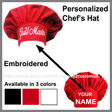Personalized Chef Hat! Traditional style cooking hat with your own name on it