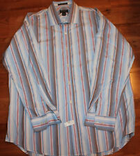 Men's Harold Powell XL BROWN, RED, BLUE, WHITE, Plaid S/S Camp Shirt