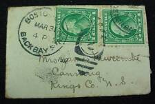Smallest Antique Birth Announcement in Mailing Envelope 1917 Canning NS Cancel