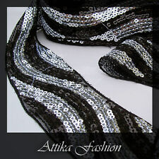 La Rochelle --- Sequined Designer Mesh Trim *Wide* *Per yard*