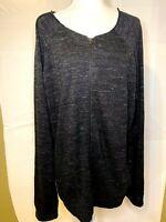 Vince Men's Charcoal Gray Marled Zip Hoodie Missing Hood Size XL