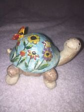 Optical Illusion Patchwork Turtle Figurine Flowers/Butterfly(Free Shipping)