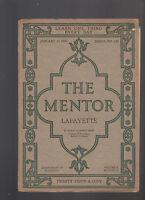 Mentor Magazine January 15 1918 #147 Lafayette Gilbert du Motier