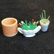 Vintage LUNDBY Barton 1/16 Dolls House Furniture - Plants & Pots T356