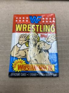 1987 TOPPS WWF SEALED PACK FROM BOX