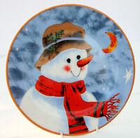 Vintage Christmas Plate Snowman