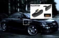 CLIGNOTANTS LATERAUX LED REPETITEURS NOIR pour AUDI TT 8N TTS TTRS 98-06 QUATTRO