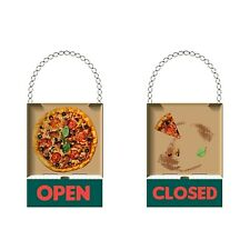 Open Closed Creative Sign for Door Pizza Cafe 30x22cm