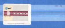 U.S.A. AT&T TELETICKET GERMAN/DEUTSCH 10 UNITS NUOVA IN BUSTA SIGILLATA RARA