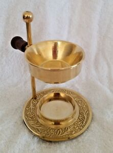 Brass Oil / Resin Incense Burner 12cm - Tea Light Candle Burner for Aromatherapy