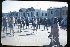 1950s Kodachrome photo slide Vallejo CA Teenage boys and girls school #8