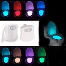 8colors Automatic Human Motion Sensor Seats LED Light Toilet Bowl Bathroom Lamp