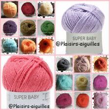 PELOTE de laine SUPER BABY vendue à l'unité DIVERSES COULEURS neuve