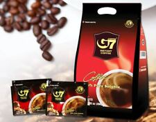 G7 Pure Black Instant Coffee SACHETS Trung Nguyen Vietnamese Coffee 2g x 100_Ig