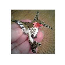 Hummingbird - Bird - Garden - Spring - Embroidered Iron On Applique Patch - SM