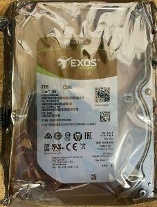 """2TB Seagate Exos 7E8 SAS 3 12Gb/s 3.5"""" Hard Drive 7200RPM 256MB Cache 512E SCSI"""
