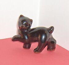 Black Cat Kitten Redware  Vintage Figurine