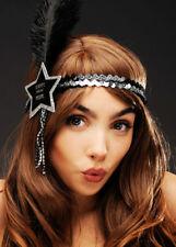Black Silver Happy Year Star Headband 1920s Party Fancy Dress Accessory