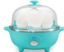 Electric Egg Cooker,Auto-Shut off and Buzzer, 7 Egg Capacity, Teal