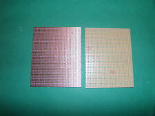 2 PLAQUES CIRCUIT IMPRIME . Plaques d'essai . A BANDES . 80 X 100 mm.
