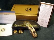 "Franklin Mint ""Moose"" Collector Knife  Item B11XQ21"