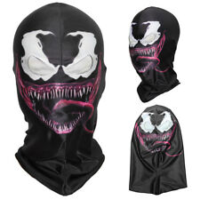 3D Venom Spiderman Scary Balaclava Cosplay Costume Halloween Full Face Mask
