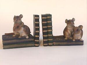 Rare Teviotdale Mice Bookends Pair TV0157