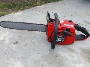 Vintage Homelite 360 Professional Chainsaw, Starts, Runs, Idles