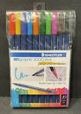 Staedtler Marsgraphic Duo Brush Markers 3000WP10 Collectible Made In Japan