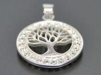 Lebensbaum Baum Des Lebens Anhänger Zirkonia Silber Gothic Schmuck NEU