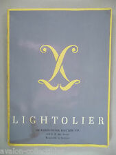 Lightolier Style Book CATALOG - 1948 - w/ Price List ~~ lamps, lights, lighting
