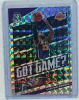 2019-2020 Panini Mosaic LEBRON JAMES Got Game Mosaic SILVER PRIZM Lakers
