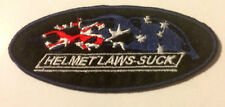 PATCH - Helmet Laws Suck - Australian Flag -  Top Quality - Iron or Sew On Patch
