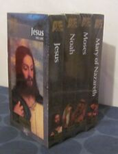 A&E Life of Jesus Noah Mary Moses NEW SEALED lot of 4 VHS