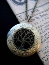 Tree of Life LOCKET Necklace Pendant Gothic Black Antique Bronze Vintage Fae