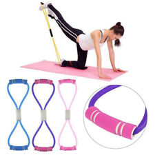 Stretch Band Rope Latex Rubber Arm Resistance Fitness Exercise Pilates Purple