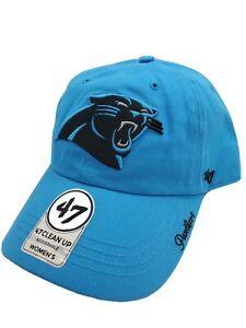 Carolina Panthers '47 Clean Up Women's Glacier Blue Strapback Hat Cap - New