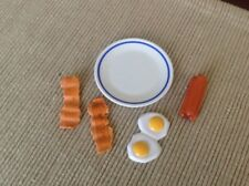 """18"""" doll eggs breakfast bacon sausage for Our Generation American Girl dolls"""