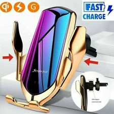 Automatic Clamping Sensor Car Air Vent Cell Phone Wireless Charger Holder 10W